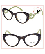 PRADA 06Q Lime Green Havana Cat Eye Swirl Fashion Eyeglasses 49mm PR06QV... - $227.70