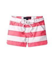 Tommy Hilfiger Girls' Big Rugby Stripe Short with Rope Belt (Wink Pink, 8) - $30.24