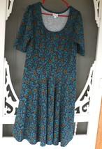 LulaRoe Teal Floral Print dress image 1