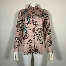 Lauren Ralph Lauren Top Blouse Floral Pink Cotton Button up Shirt Sz M NEW NWT image 1