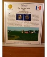 Iowa Statehood Quarters Collection Postal Commemorative Society - $8.09