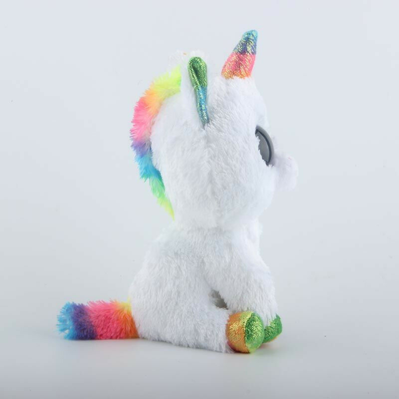 Ty Beanie Boos Stuffed & Plush Animal Colorful White Unicorn Toy Doll With Tag image 3