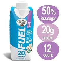 Organic Valley, Organic Fuel High Protein Milk Shake, 20G Protein, Vanilla, 11 o