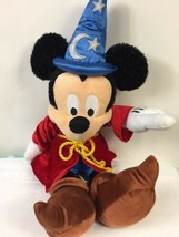 "Disney Parks Plush Fantasia The Sorcerers Apprentice Mickey Mouse Stuffed 18"" - $15.38"