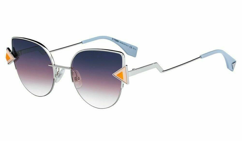 e00f0d9a1e044 NEW Fendi FF0242 S TJV52FF Silver Orange Frame Grey Fuschia Gradient  Sunglasses -  395.01