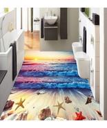 3D Rosy Clouds Sea Shell Floor WallPaper Murals Wall Print Decal 5D AJ W... - $45.27+