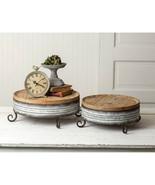Set of Two Wood and Metal Display Risers - $99.99