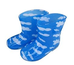 Cute Starry Kids' Rain Boots White Cloud Children Rainy Days Shoes 17CM