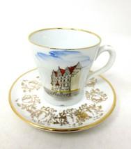 Aalborg Castle Demitasse Cup and Saucer Vintage Denmark - $19.75