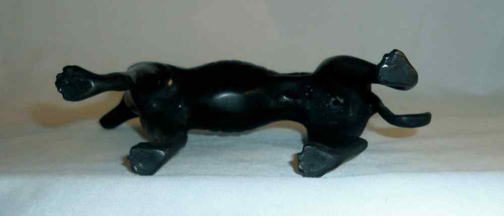 Beautiful and Decorative Bronze Figurine of Gray Hound Dog Standing on All Four