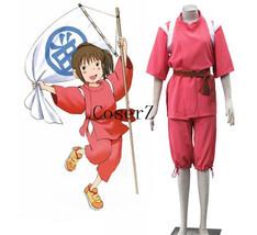 Hayao Miyazaki Cartoon Spirited Away Ogino Chihiro Kimono Anime Cosplay Costume - $79.00