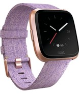 Fitbit versa smartwatch heart rate monitor lavender woven thumbtall