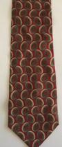 GIORGIO ARMANI Cravette Plaid Geometric Design Silk Tie Italy Necktie 56... - $5.92