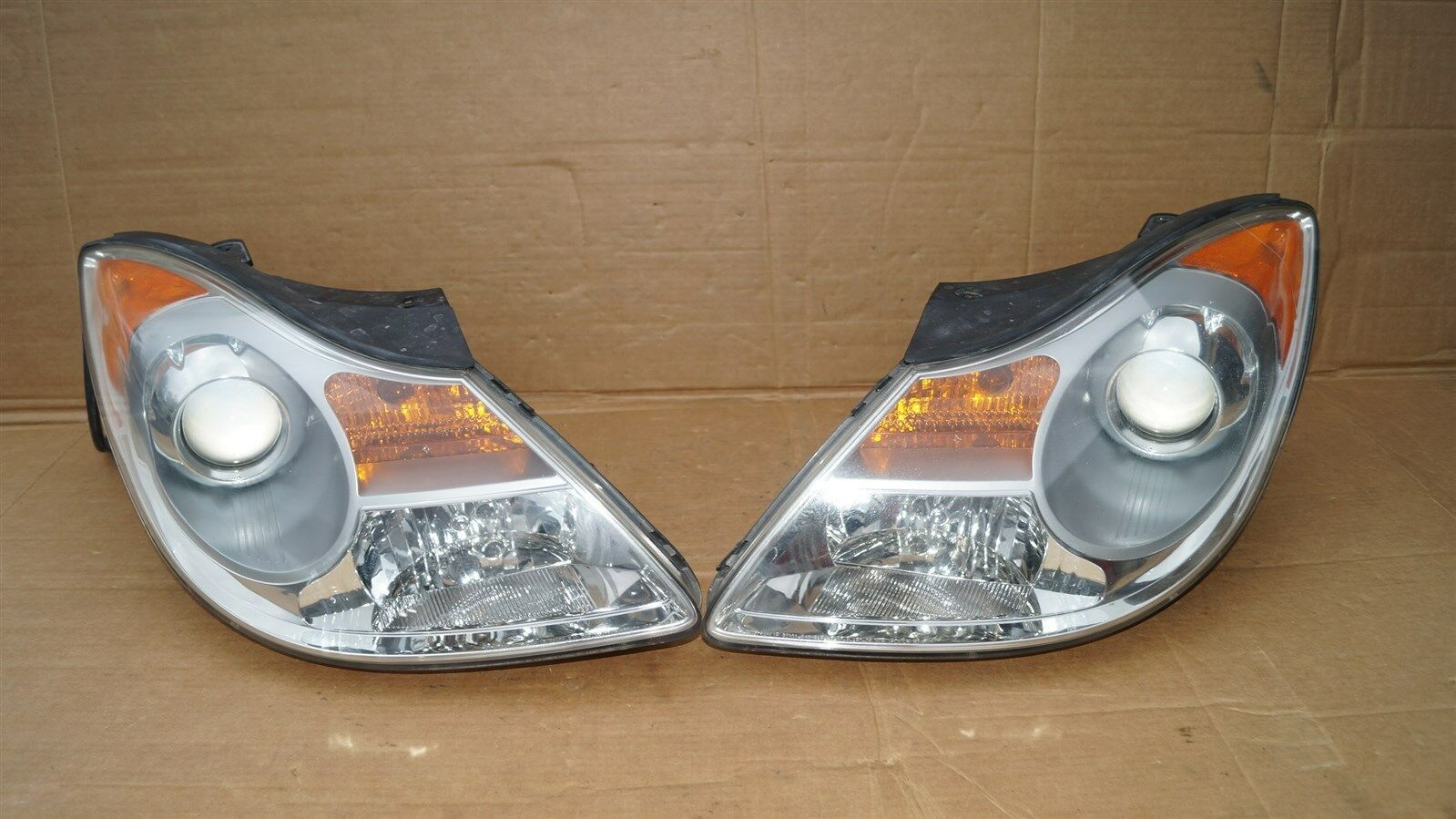 07-12 Hyundai Veracruz Halogen Headlight Head Lights Matching Set LH&RH POLISHED
