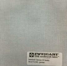 Interlock Needlepoint Canvas 14 Mesh Pewter Custom Cuts Available Blank Canvas  - $7.13+
