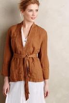 Nwt Anthropologie Linen Wrap Honey Kimono Jacket By Hei Hei S - $59.49