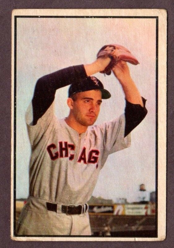 Primary image for 1953 BOWMAN COLOR #73 BILLY PIERCE BASEBALL CARD-CHICAGO WHITE SOX