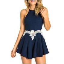 Elegant Sleeveless Lace Cut Out Women Party Romper - $19.98