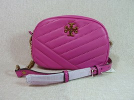 NWT Tory Burch Crazy Pink Kira Chevron Small Camera Bag $358 image 1