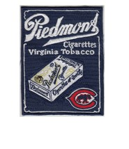 Baseball Chicago Cubs & Piedmont Cigarettes Tobacco Promo 4.75 x 3.75 in Patch  - $9.99