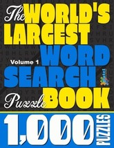 The World's Largest Word Search Puzzle Book: 1,000 Puzzles Vol. 1 - $22.60