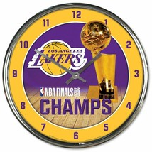 Los Angeles Lakers WinCraft 2020 NBA Finals Champions Chrome Clock - $31.67