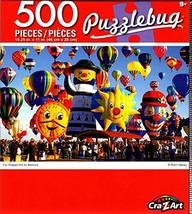 Cra-Z-Art Fun Shaped Hot Air Balloons - 500 Piece Jigsaw Puzzle - Puzzlebug - $11.39