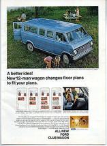1968 Vintage Ad Ford Club Wagon Full Size Van A Better Idea - $9.25