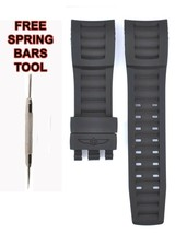Compatible Invicta Pro Diver Hommes 14661 28mm Caoutchouc Noir Bracelet Montre - $28.70