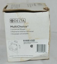 Delta Multichoice Universal Tub Shower Rough Inlet Outlet R10000UNBX image 1