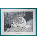 "NUDE Mermaids Gossip on River Bank - Victorian Era Print 15"" x 20"" - $28.80"