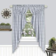 "Achim Home Furnishings Buffalo Check Gathered Swag Window Curtain Pair, 72"" x 63 - $48.79"