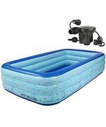 ZornRC Inflatable Thickened Swimming Pool, PVC Folding Durable Family Le... - $98.00
