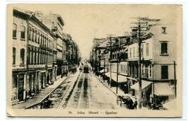 St John Street Quebec City Canada 1910c postcard - $5.89