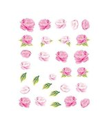 5Pcs Beautiful Flowers Pattern Nail Art Tips Decoration Sticker, BLE2021 - $12.94
