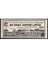 De Anza Motor Lodge Ad Rt66 Albuquerque New Mexico 1964 Roadside Ad Rout... - $10.99