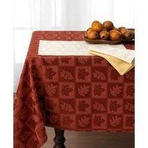 "Ralph Lauren ""Stroddard"" Rust Holiday Tablecloth Cotton Blend 60"" X 144"" Red New - $94.65"