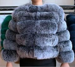 Women Winter fashion Designer Thick Faux Mink Coat image 3
