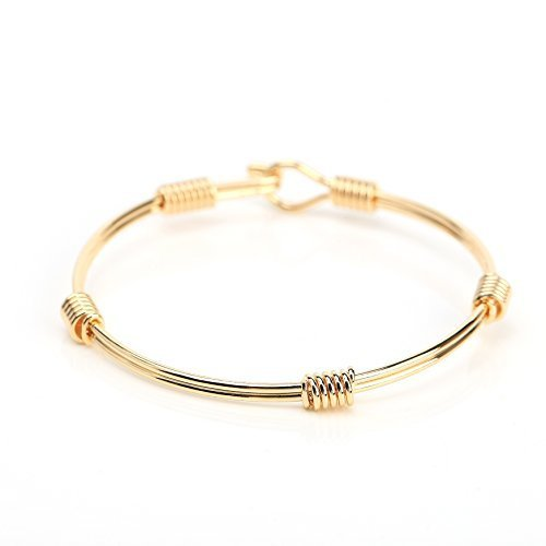 UE- Stylish Gold Tone Designer Bangle Bracelet With Contemporary Design