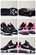 Womens Winter Sneakers Nike React Air Max 270 Black powder white hook - $130.00