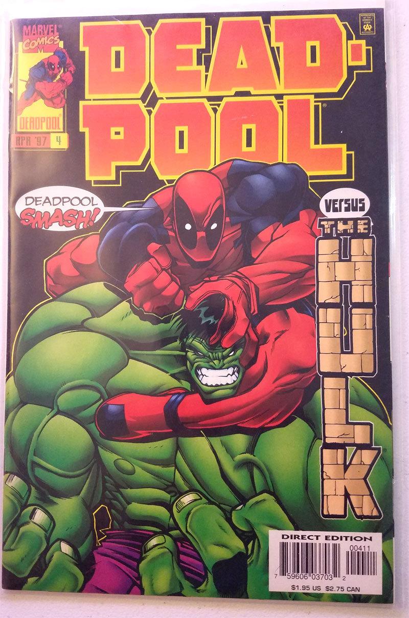 Deadpool #4 - 1997 Kelly McGuinness Series - 1st Printing - Hulk