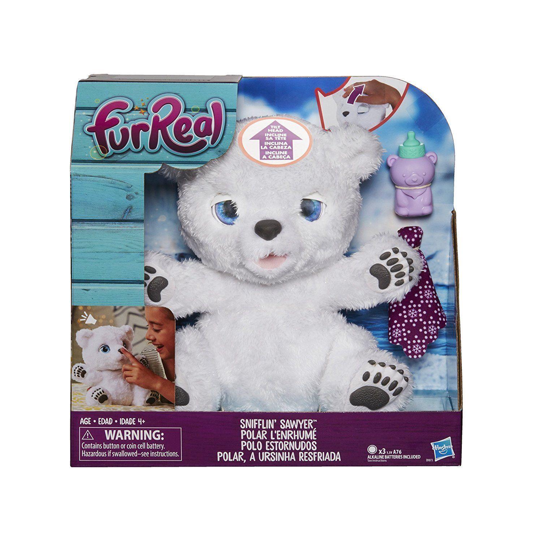FurReal ,Friends ,Snifflin' ,Sawyer, Polar ,Bear, Plush, Toy ,interactive