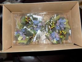 Princess House Set Of 2 Floral Pillar Rings #1211 (NEW) - $21.32