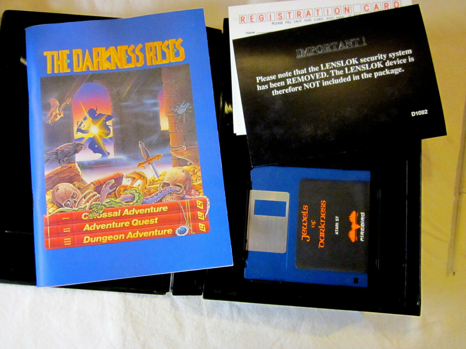 "Primary image for 1987 Atari ST ""Jewels Of Darkness"" with case 