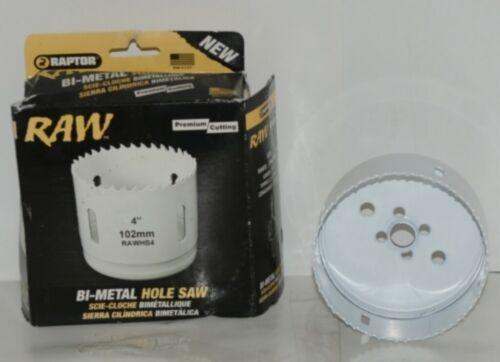 Raw RAWHS4 Bi Metal 4 Inch Hole Saw Fits RAW2L Pin Drive