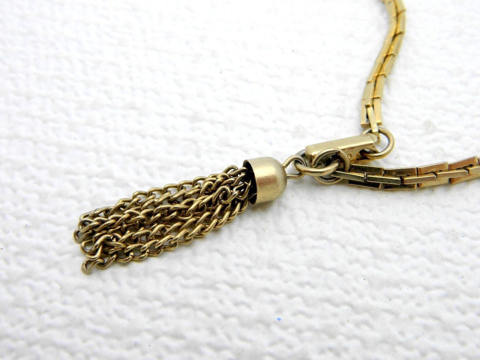 VTG SARAH COVentry Gold Tone Tassel Bracelet