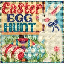 Egg Hunt Beaded Counted Cross Stitch Kit Mill Hill 2015 Buttons & Beads Spring M - $21.99