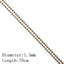 BASEHOME 10pcs/lot 70cm Length 1.5mm/2.4mm Ball Bead Chains Bulk Chain Simple St - $11.38