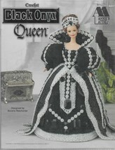 Crochet Doll Dress Pattern-Black Onyx Queen Dress by Annie's Attic - $6.76