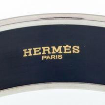 Hermès Esmalte Negro Caleche Brazalete 19mm Ancho Gorgeous! image 5